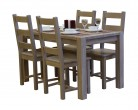 Table 90x150cm + 4 chairs set