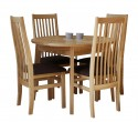 Dinning set  D100cm + 4 ash chairs Simfony